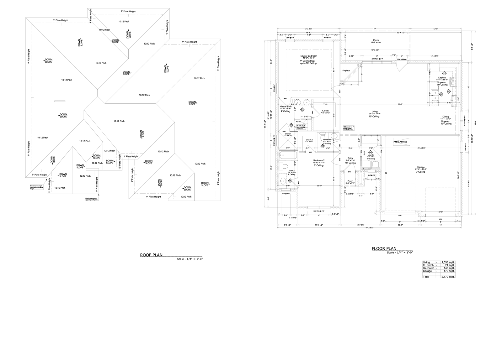 Oasis Roof and Floor Plan