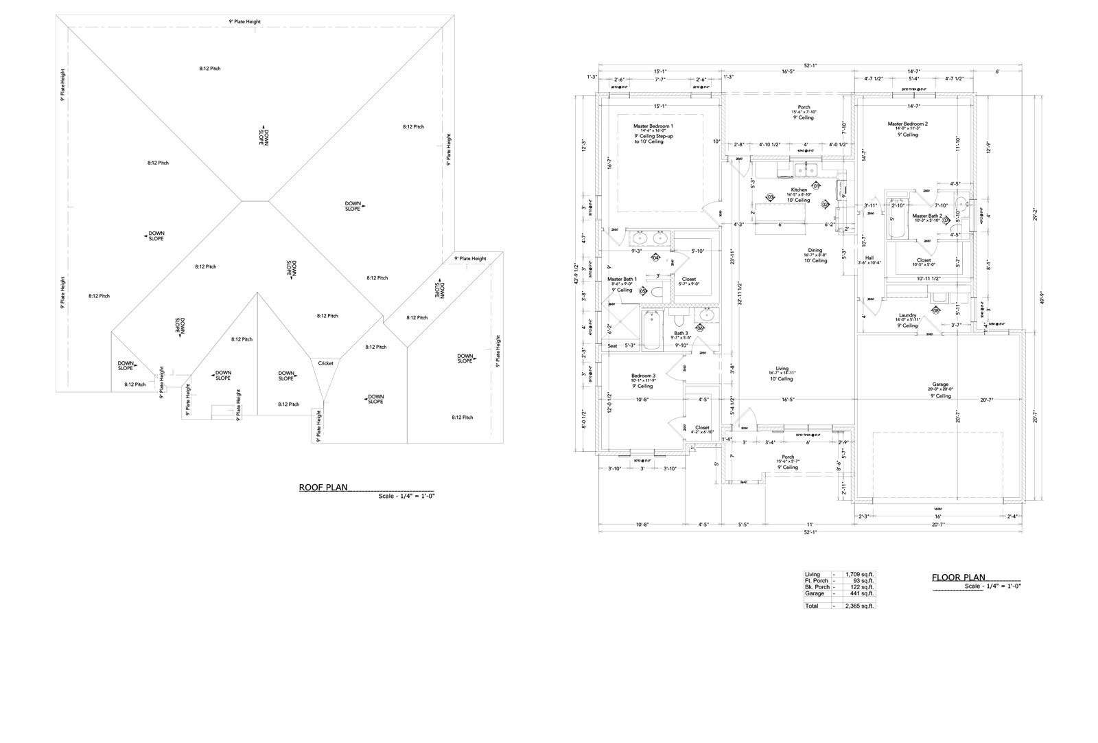 Victory Roof and Floor Plan